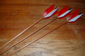 Handmade Wooden flu flu arrows.
