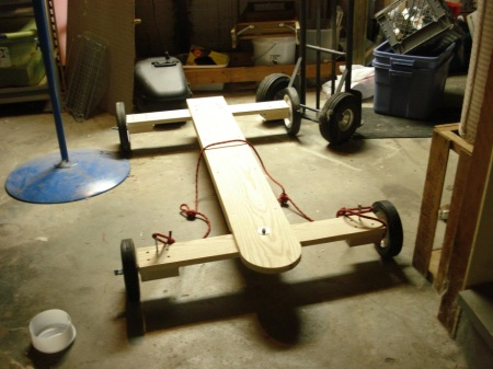 Wooden Go Kart Summer Sled