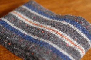 Handwoven wool scarf Donegal Tweed