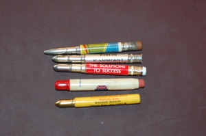 Antique advertising pocket pencils