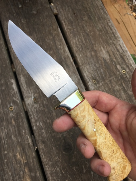 handmade forged hunting knife